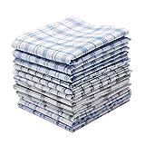 Neatpal 100% Cotton Men's Handkerchiefs Check Pattern Hankies