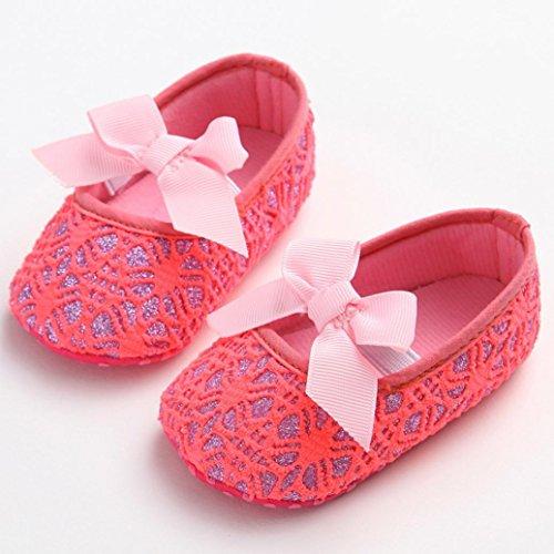 Zapatos de bebé, Switchali zapatos niña primeros pasos verano Recién nacido Niña flor Cuna Suela blanda Antideslizante Zapatillas Bebé niña bowknot vestir casual Rojo