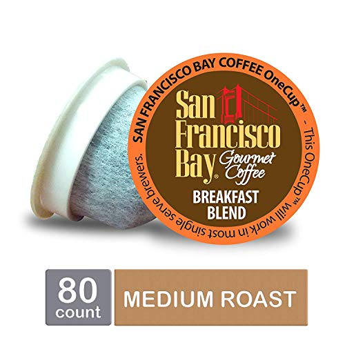 San Francisco Bay OneCup, Breakfast Blend, Single Serve Coffee K-Cup Pods (80 Count) Keurig Compatible