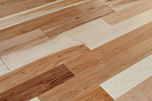 Eddie Bauer Hickory 5 Inch Wide Plank Flooring in Hawk Brown | From the Eddie Bauer River's Edge Collection (35 square feet per carton) (Hickory Wood Flooring compare prices)