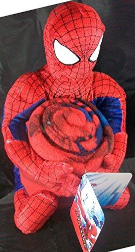 The Amazing Spiderman Marvel Plush Figure and Fleece Throw ()