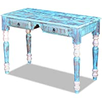 Festnight Reclaimed Wood Home Office Computer Desk Reading Study Console Table, Multi-color