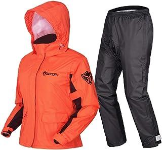 Conjunto impermeable, Impermeable transpirable + Pantalones Rayas reflectantes, Ropa impermeable impermeable para ciclismo, Senderismo, Deportes al aire libre ( Color : Orange , Tamaño : S )