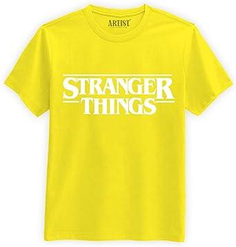 ARTIST - Camiseta Stranger Things, edición Limitada, Color Amarillo: Amazon.es: Ropa y accesorios