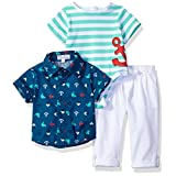Quiltex Baby Boys' Playwear Set of 3 Pieces, Multipack, 6/9