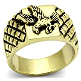 GDSTAR rings for women Flying Eagle Designs High Polished Gold Plated Stainless Steel ree NLeadAllergy