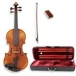 Legacy LVN-700 Step-Up Student Violin Full Size (4/4) with Ebony Fittings, Deluxe Case, Bow and Thomastik Dominant Strings