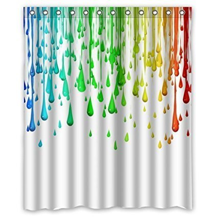 YEHO Art Gallery Special Design Paint Splatter Art Polyester fabric Shower Curtain Shower Rings Included -Best Visual Enjoyment For You 72X84 inches