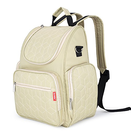 Diaper Backpack Bag with Stroller Straps, Multi-Function W