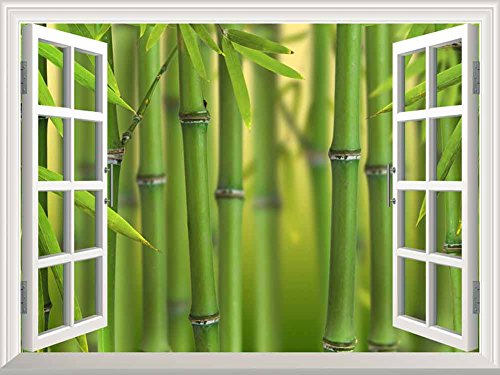 Cheap  wall26 Modern White Window Looking Out Into a Bamboo Forest II -..