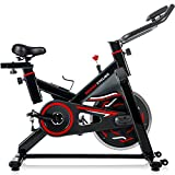 Merax Deluxe Indoor Cycling Bike Cycle Trainer Exercise Bicycle (Black&Red)