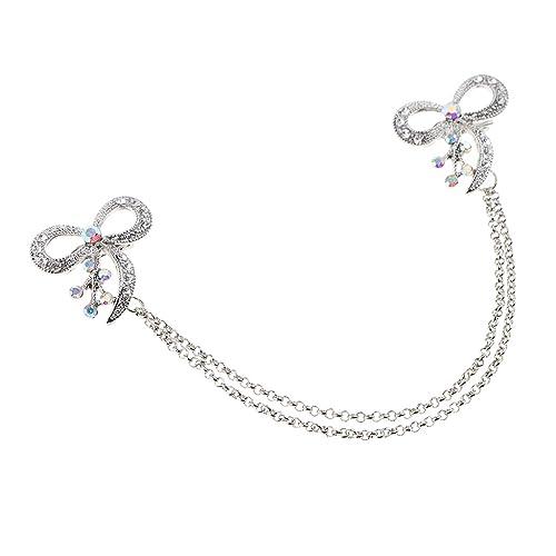 Braut Hochzeit Stoffblume Brosche Perle Diamant Haarclips Mode Schmuck