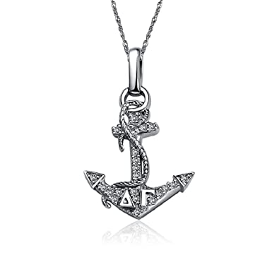 4ee0dd4e1b523 Greek Star Delta Gamma Anchor Necklace with a 18