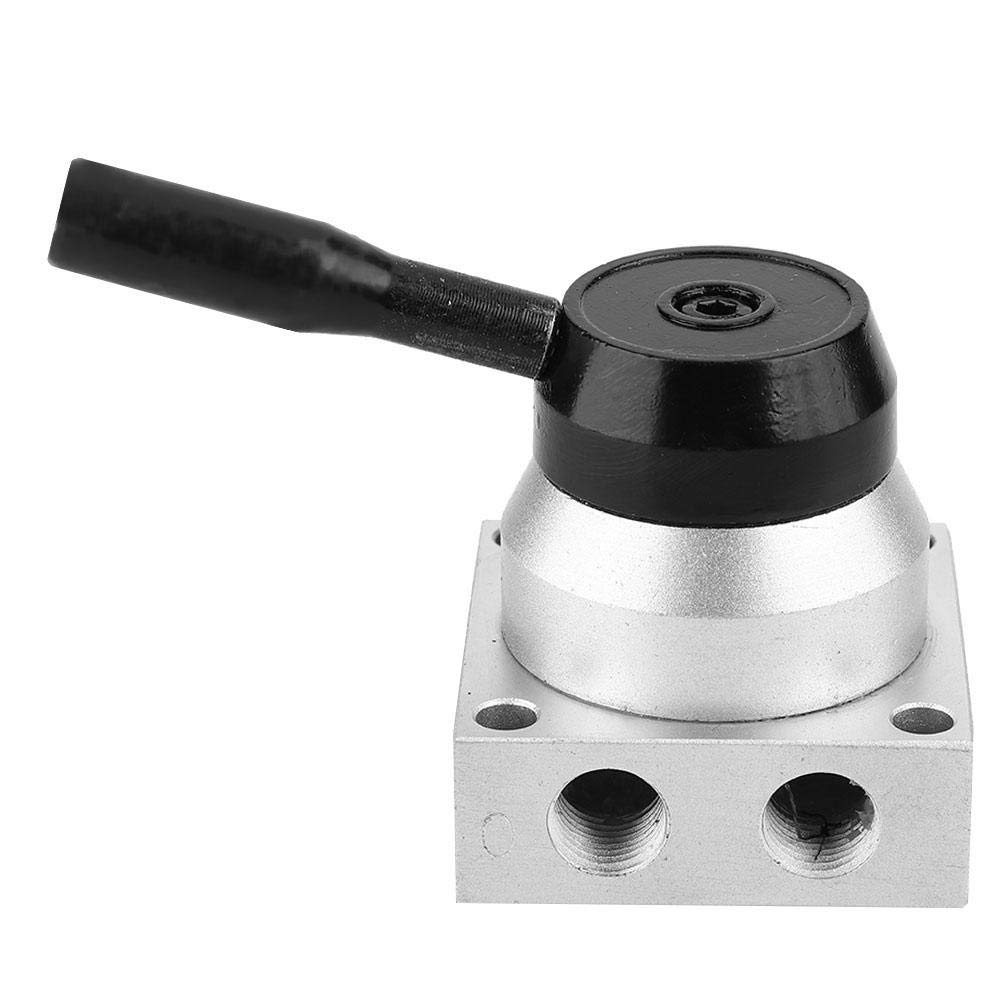 Pneumatic Valve,Pneumatic Manual Control Valve 3 Position 4 Way Hand Lever Valve 1//4 BSPT K34R6-8