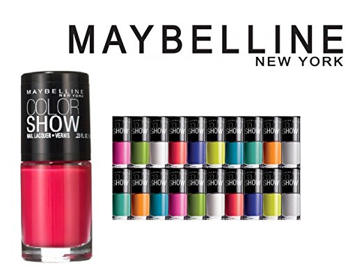Lot of 10 Maybelline Color Show Finger Nail Polish Color Lacquer All Different Colors No Repeats (Maybelline Nail Enamel)