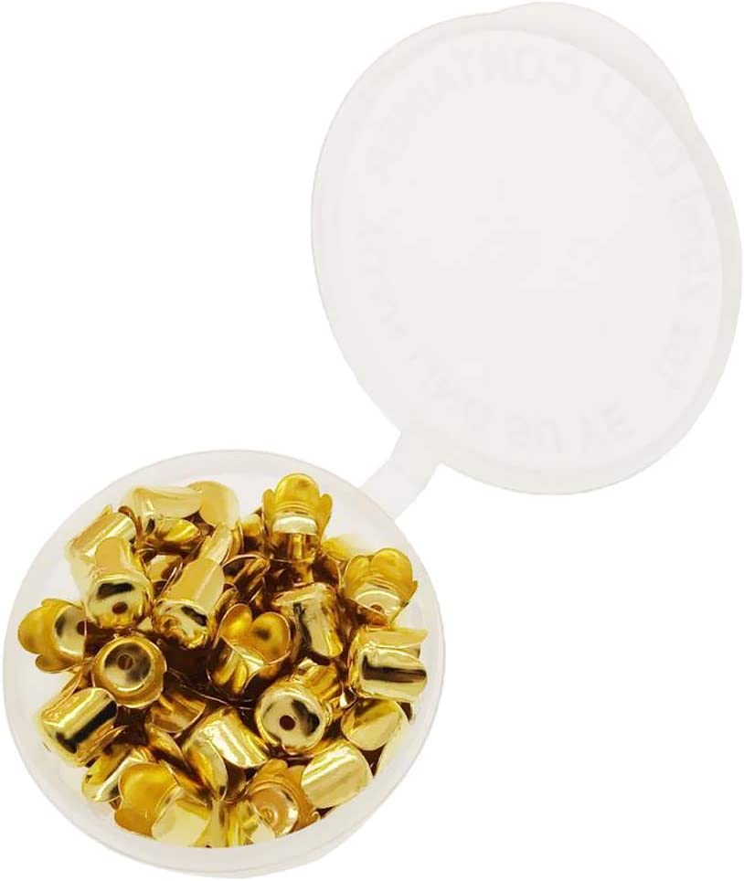 8mm Baoblaze 160pcs Plated Tassel Bead Caps End Cap Beads For Jewelry Making gold