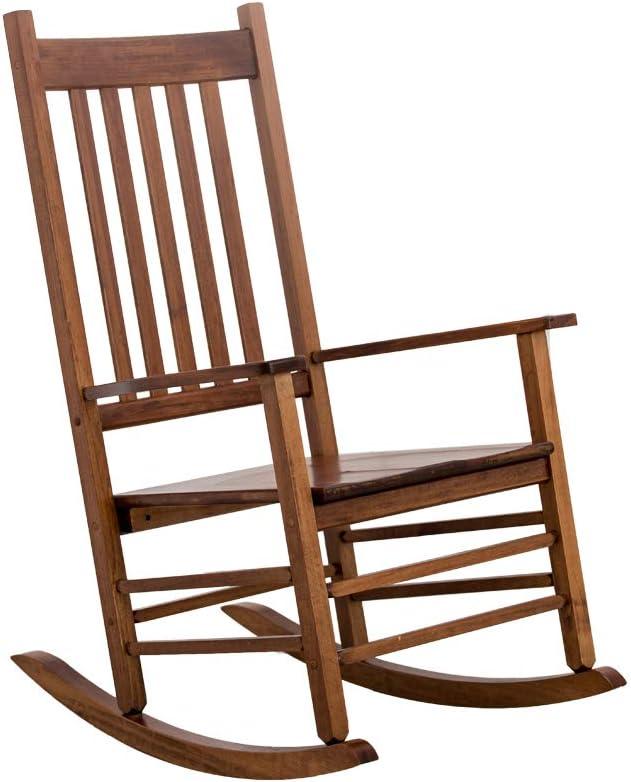 B&Z KD-25N Rocking Chair Wooden Porch Heirloom Rocker Flat Plate Natural Oak