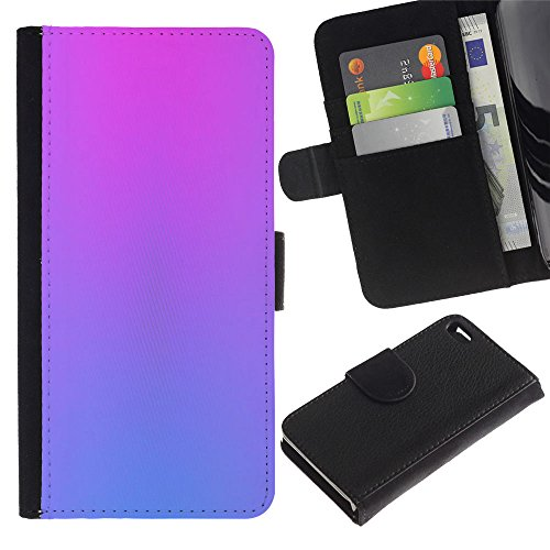 LASTONE PHONE CASE / Luxe Cuir Portefeuille Housse Fente pour Carte Coque Flip Étui de Protection pour Apple Iphone 4 / 4S / purple blue vibrant colors clean pink