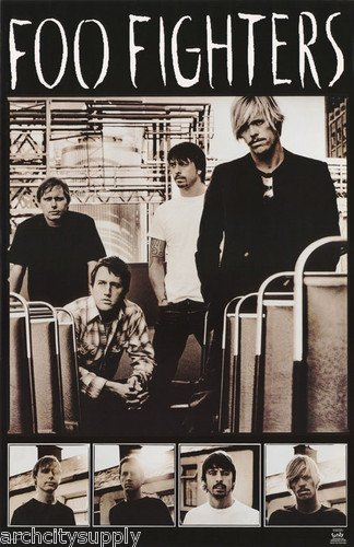 Foo fighters poster the black and white band shot