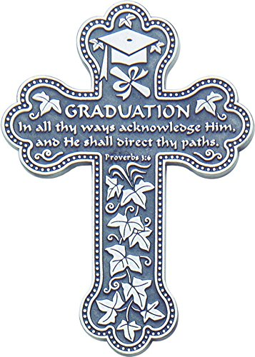 Cathedral Art PMC114 Graduation Message Wall Cross, 5-Inch