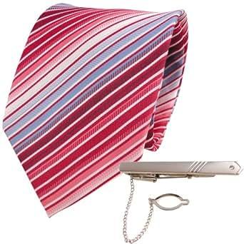 XXL lazos de diseño rojo azul claro blanco crema rayas + aguja lazos