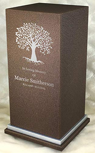Personalized Engraved Tree of Life Cremation Urn for Human Ashes-Made in America-Handcrafted in The USA by Amaranthine Urns- Adult Funeral Urn up to 200 lbs Living Weight -Eaton SE- (Cast Bronze)