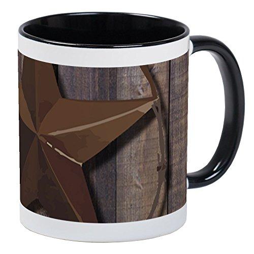 CafePress Western Barnwood Texas Star Mugs Unique Coffee Mug, Coffee ()