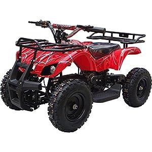 350-Watt-Sonora-Electric-Ride-on-Mini-Quad-Utility-ATV-for-Kids-Red