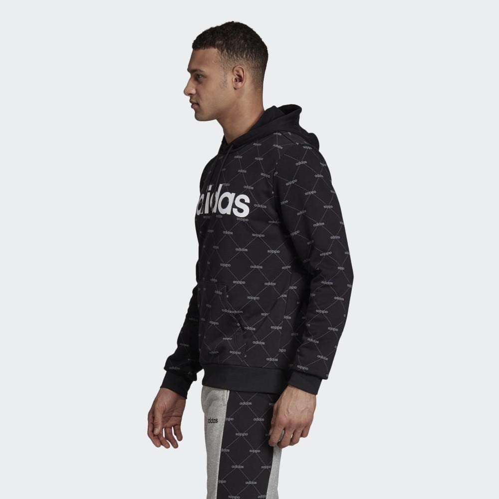 Amigo Opaco Factura  adidas Men Hoodie Essentials Linear Graphic Sporty Training Athletic EI6256  at Amazon Men's Clothing store