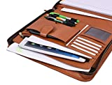 Zippered Genuine Leather Business Portfolio | Easy