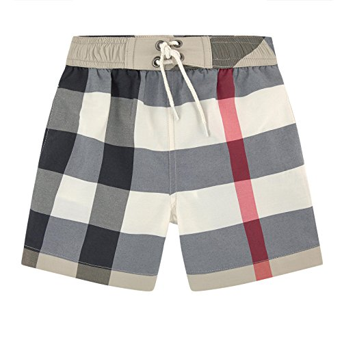 Burberry Kids Boy's Swim Check Shorts (Little Kids/Big Kids) New Classic Check Swim Trunks 6 Little Kids