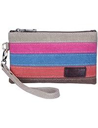 Womens Canvas Smartphone Wristlets Bag, Clutch Wallets Purses for iPhone 6S/7 Plus/