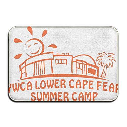Summer Camp Theme Anti-slip Door Mat Home Decor Indoor Outdoor Entrance Doormat Rubber Backing 23.6 X 15.7 Inches