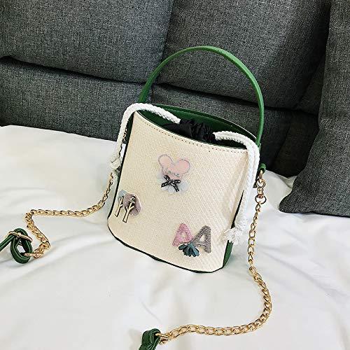 a Sen moda fresca secchiello verde verde femminile versione coreana a singola borsa borsa WSLMHH tracolla Borsa tracolla della marea selvaggia borsa FU4qnAa