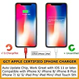iPhone Charger, GCT Lightning Cable 3-PACK 6.6 FT