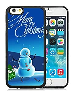 2014 New Style iPhone 6 Case,Christmas Snowman Black iPhone 6 4.7 Inch TPU Case 19