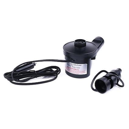 Bomba de aire eléctrica con adaptador de alimentación de coche de 12V, inflador altamente versátil