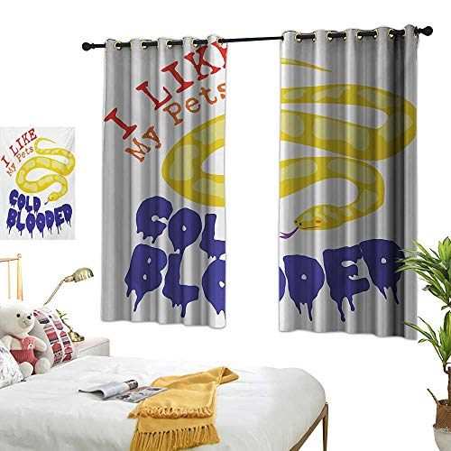 Luckyee Decor Curtains by,Reptile,63