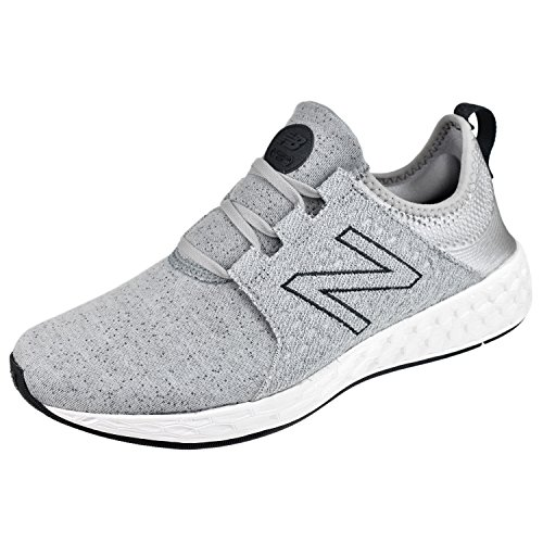New Balance Women's Fresh Foam Cruz v1 Retro Hoodie Running Shoe, Silver Mink/Outerspace, 8.5 B - Women Las Cruces
