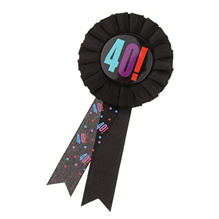 Premio Cinta Roseta Insignia Broche Pin Adulto Cumpleaños Fiesta Favor Cenefas - 40