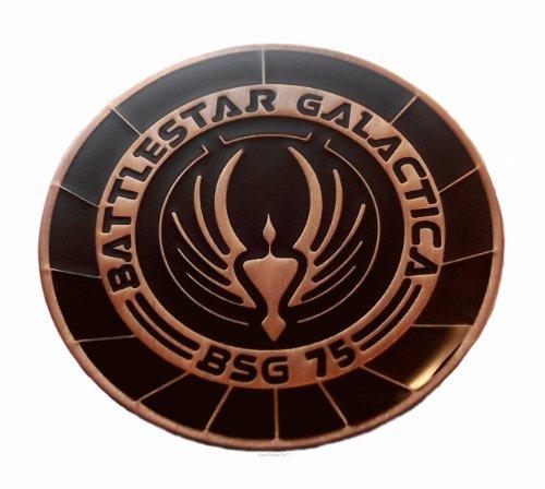 [Battlestar Galactica BSG 75 Logo Enamel Pin New] (Galactica Costumes)