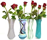 Vazz the vase with class - Foldable flower vase/Includes 4 different designs/Price reduced for limited time/Modern and durable plastic vase/Ideal for bridal and baby shower décor