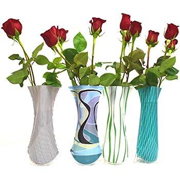 Amazon Com Plastic Foldable Flower Vase 5 Pieces Home Amp Kitchen