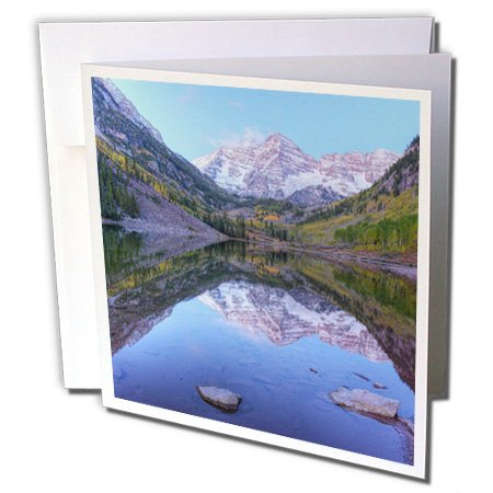 Colorado, Maroon Bells-Snowmass, Maroon Lake - Greeting Cards, 6 x 6 inches, set of 12 (3d Wedding Bell)