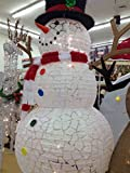 """54"""" Lighted Snowman - cracked ice look - easy set up"""