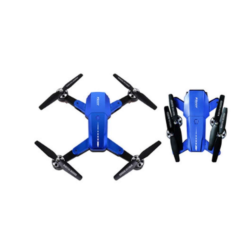 WEIFAN-Drone Abejón Plegable [UAV] FPV portátil Plegable Ultra Larga Resistencia aeronave de Control Remoto pequeña aeronave Inteligente de Altura Fija de Cuatro Ejes sin fotografía aérea - Azul 4