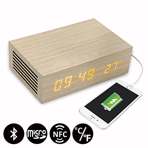 Homtime Charging Bluetooth Speaker Thermometer