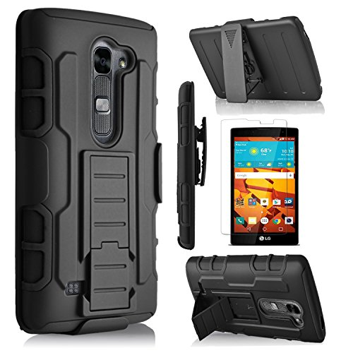 Click to buy LG VOLT 2 Case, Starshop Full Protection Dual Layers Hybird Case with Kickstand and Locking Belt Swivel Clip + Premium Screen Protector - From only $165.99