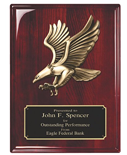 Woltman - Rosewood Piano Finish Plaque with Eagle ()