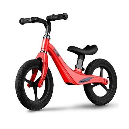 Bicicletas Equilibrio Scooter sin Ruedas para niños Scooter Rojo para niños de 12 Pulgadas Ayuda a